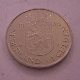 Beatrix - 1 Gulden 1980 - Double portret. Unc !!! KM20 (14316)