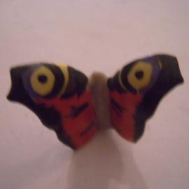 1936-04-4/5 German Mutter & Kind donation pin.  Butterflies - Peacock butterfly. Porcelain 31x20mm T013 (15945)