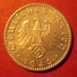 Germany - Third Reich , 50 Reichspfennig 1940 A                 J372/KM96 (8109)