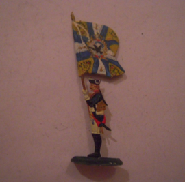 1760 Prussian flag bearer , 1x flat 30mm scale. Grünewald (15687)