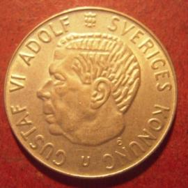 Gustaf VI Adolf , 1 Krona 1966 U KM826 (11433)