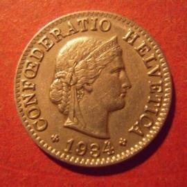 5 Rappen 1934 B      KM26b (11896)