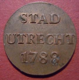 Utrecht - City , 1 Duit 1788      Su20/KM91/V.116.6 (9587)