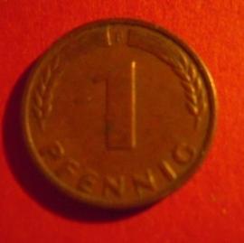 Germany - BRD - 1 Pfennig 1948 F - Bank deutscher Länder.    J376/KM101          (4053)