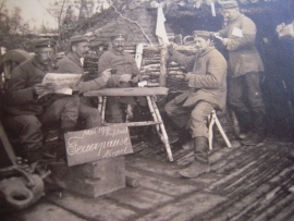 1916  , Orig. photogr. WWI , German troops in Russia during cease fire       (5700)