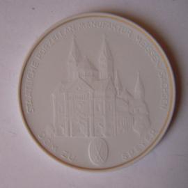 1993 A Meissen , Städte-Thaler - Dom zu Speyer.  Goldfaden am Rand !!! Meissen Porzellan 64mm W10.235.2.1.5 - IV (14782)