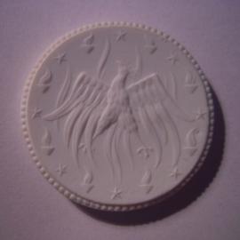 Meissen , 20 Mark 1921 - Crematory Union , no value. Meissen Porcelain 40mm Sch377n - VII (16092)