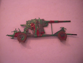 1930's -WWII German anti-aircraft gun 137x50mm , 1x flat 30mm scale (15912)