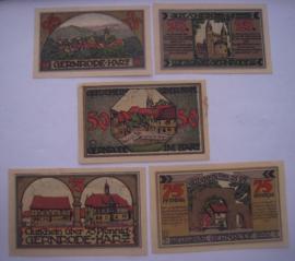 Gernrode - Hare , 2 x 25 + 1 x 50 + 2 x 75 Pfennig 1921. GM423.2 (16036)