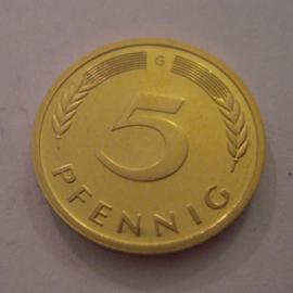 Germany - BRD - 5 Pfennig 1993 G   Unc !!!    J382/KM107 (14976)