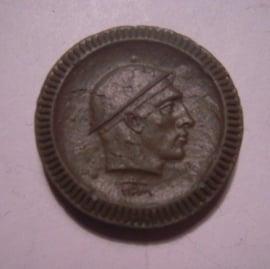 Waldenburg / Walbrzych (POL) , .50 Pfennig 1921 - Bergmannskopf. Krister Porzellan-Manufakter 25mm Sch553fI - V (14880)