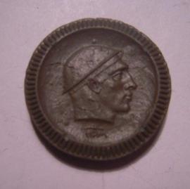 Waldenburg / Walbrzych (POL) , .50 Pfennig 1921 - miner's head. Krister Porzellan-Manufakter 25mm Sch553fI - V (14880)