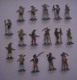 1809 Tyrolean rebellion , 16x flat 30mm scale. L. Frank (15342)