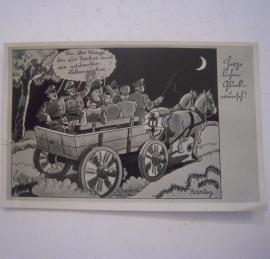 1940 Field postcard WWII - soldiers humor. Stamped Zittau (14326)