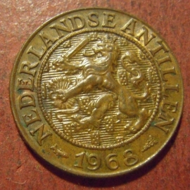 Netherlands Antilles , Juliana , 1 Cent 1968 fish     KM1 (11518)