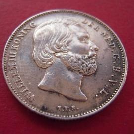 Willem III - ½ Gulden 1863. Near  XF !!! Silver KM92 (5784)