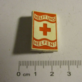 1935-06-22/23 German Red Cross donation pin. Help us help !. Synthetic T002 (16381)