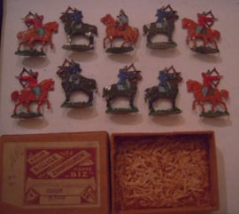 700 BC Scythian horsemen , 10x flat 30mm scale in original box. Kieler Zinnfiguren (15668)