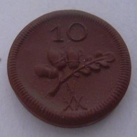 Münsterberg / Ziebice (POL) , .10 Pfennig 1921. Meissen Porcelain 19mm Sch193a/M18133.3 - II (14531)