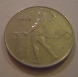 Italian Republic , 50 Lire 1955       KM95 (14969)