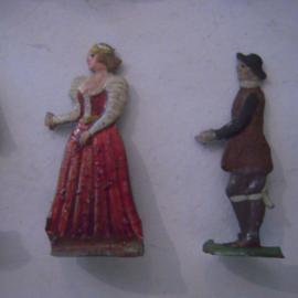 1400 - 1500's Civilian life , 16x flat 30mm scale. Heinrichsen - Nürnberg (16126)