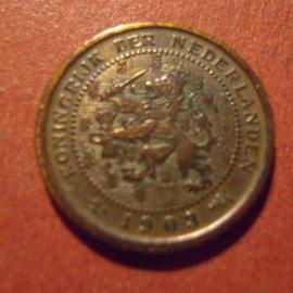 ½ - 5 Cent Wilhelmina - Netherlands