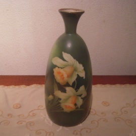 1920-30's Porcelain vase. Hight 24cm , hand painted , made in Holland  (13535)