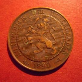 William III -  2½ Cent 1890 halbert. XF !!! Bronze KM108 (5881)
