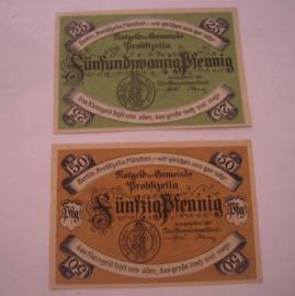 Probstzella , 25 + 50 Pfennig 1921. GM1078.1 (16038)