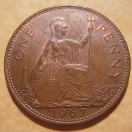 Great Britain - Elizabeth II  , 1 Penny 1967    KM897 (12875)