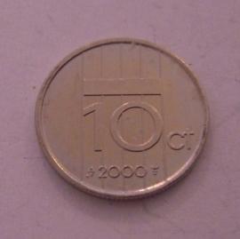 Beatrix  - 10 Cent 2000. Unc !!! Ni KM203 (14313)