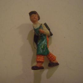 Gau Berlin 1941 Jan. WHW donation pin. Berlin types - Berlin cobbler boy. Porcelain 45mm T033 (13668)