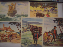 Old German collector cards - Middle and South America , 64x Sanella 1950's , 135x98mm (15279)