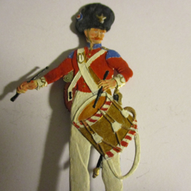 1900 English drummer , 1x flat 80mm scale (16336)