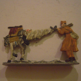 1918 Russian wounded transport WWI , 1x group flat 30mm scale. (15072)