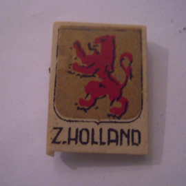 Netherlands 1940's WHN donation pin. Coat of arms provinces & cities - Zuid-Holland. Synthetic 29x21mm T045 (15975)