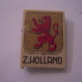 Reichskommisariat Niederlande 1940's WHN Spende. Provinz- & Städtewappen - Zuid-Holland. Kunststoffabzeichen mit Nadel 29x21mm T045 (15975)