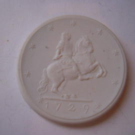1933 Meissen , 200 yrs Augustus the Strong. Probe !!! Meissen Porcelain 40mm Sch2059n - RR !!! (14858)