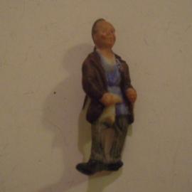 Gau Berlin 1941 Jan. WHW donation pin. Berlin types - Erich Caro. Porcelain 46mm T026 (13665)