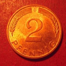 Germany - BRD - 2 Pfennig 1975 G  Unc !!!     J381a/KM106a (12552)