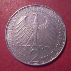 Germany - BRD - 2 Mark 1965 G - Max Planck      J392/KM116 (12568)