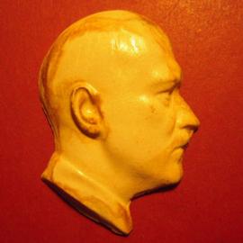 1933-45 authentic medal Adolf Hitler. Porcelain  44x64mm (9494)