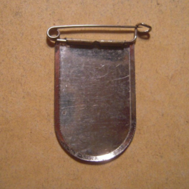 1934-39 VDA Spende. Städtewappen auslandsdeutscher Städte - Ofen/Óbuda (HUN). Metallabzeichen mit Nadel T054  (13423)