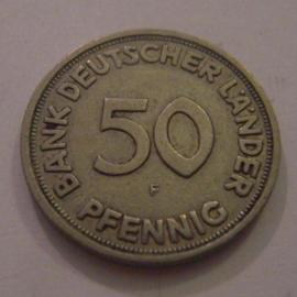 Germany - BRD , 50 Pfennig 1949 F - Bank deutscher Länder.      J379/KM104 (14966)
