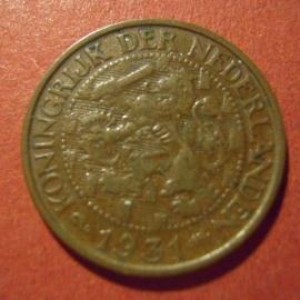 Wilhelmina - 1 Cent 1931. Bronze KM152 (7306)