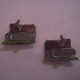 1944  USA tractors  WWII , Allis-Chalmers Co. HD10W ?, Rare !!! , 2x flat 20mm scale (15827)