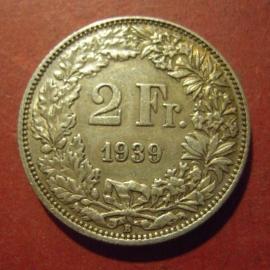 2 Franken 1939 B    KM21 (11972)