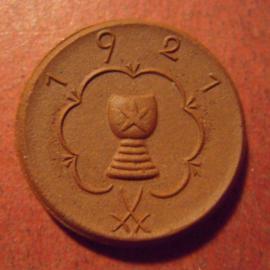 Kitzingen , .50 Pfennig 1921. Meissen Porzellan 23mm Sch147a - II (10937)