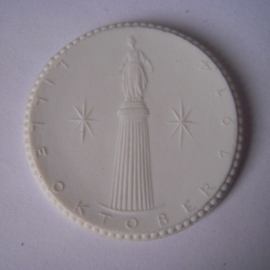 1922 Freiberg , Memorial 181 Lille 1914 donation. Probe !!! Meissen Porcelain 40mm Sch751n - RR !!! (15932)