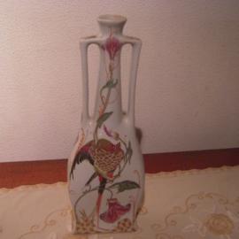 "Porcelain vase , Colenbrander ""RAM"" Arnhem. Chinees copy from the 1970/80's ? , hand painted 30x11x6 cm (11335)"